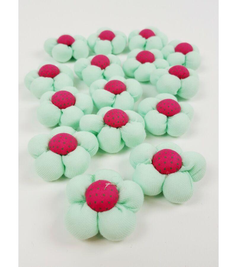 Textil virág kicsi  - Menta