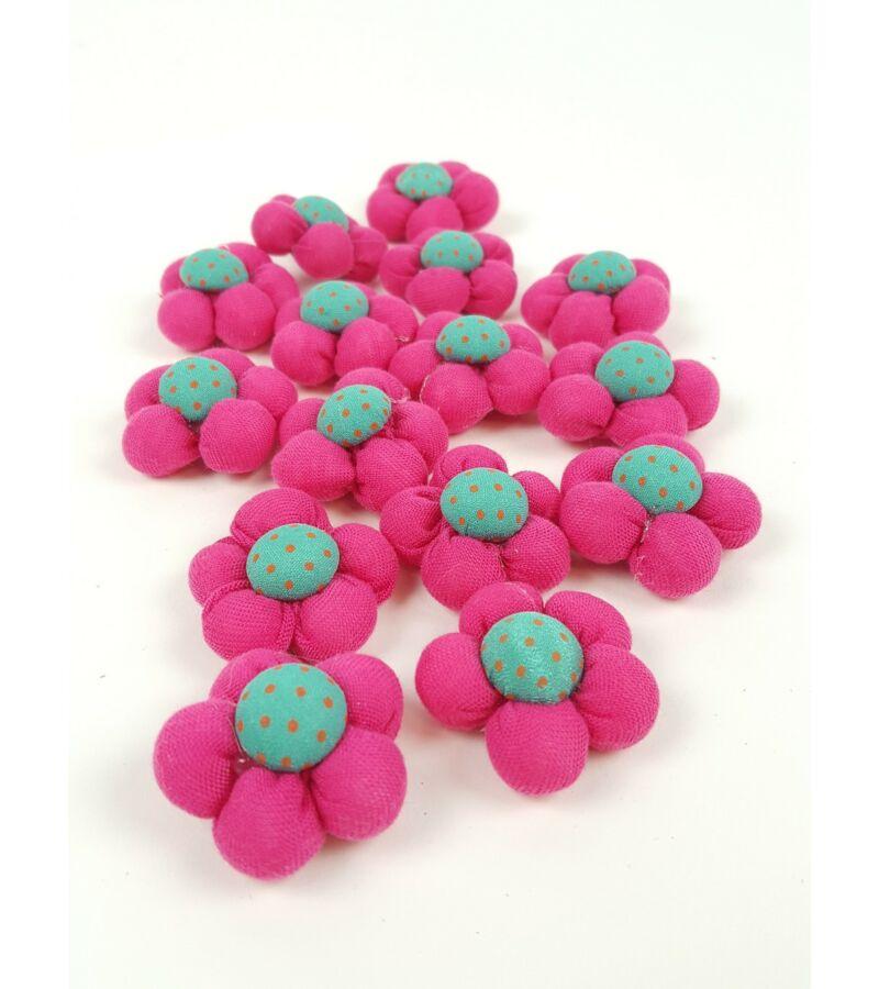 Textil virág kicsi  - Pink