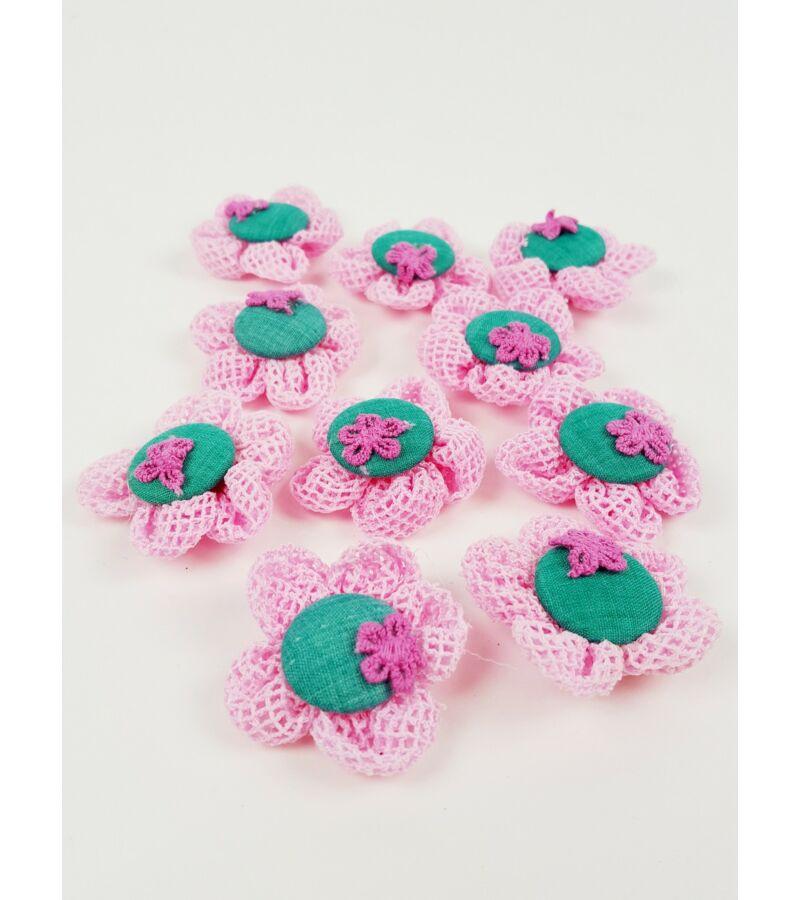 Textil virág kötött - Rózsaszín