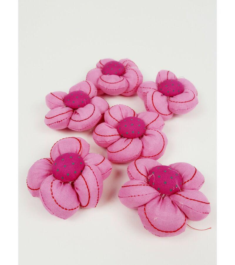 Textil virág nagy vart - Pink