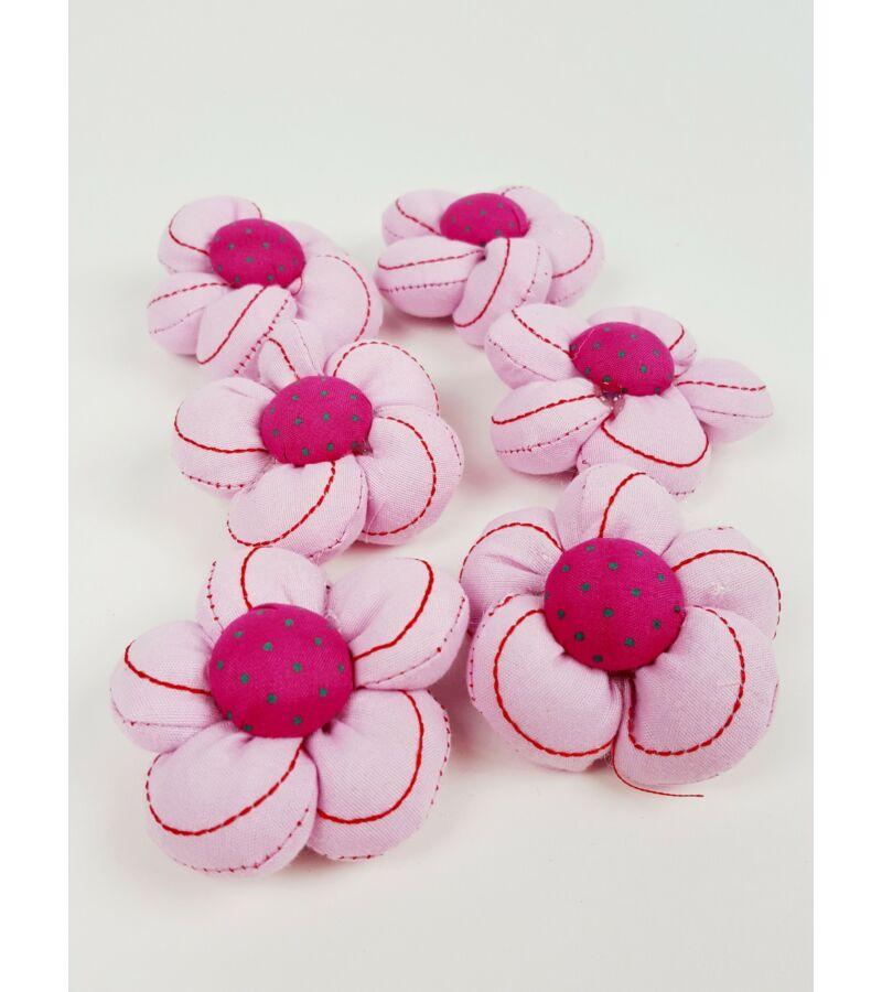 Textil virág nagy vart - Rózsazsín