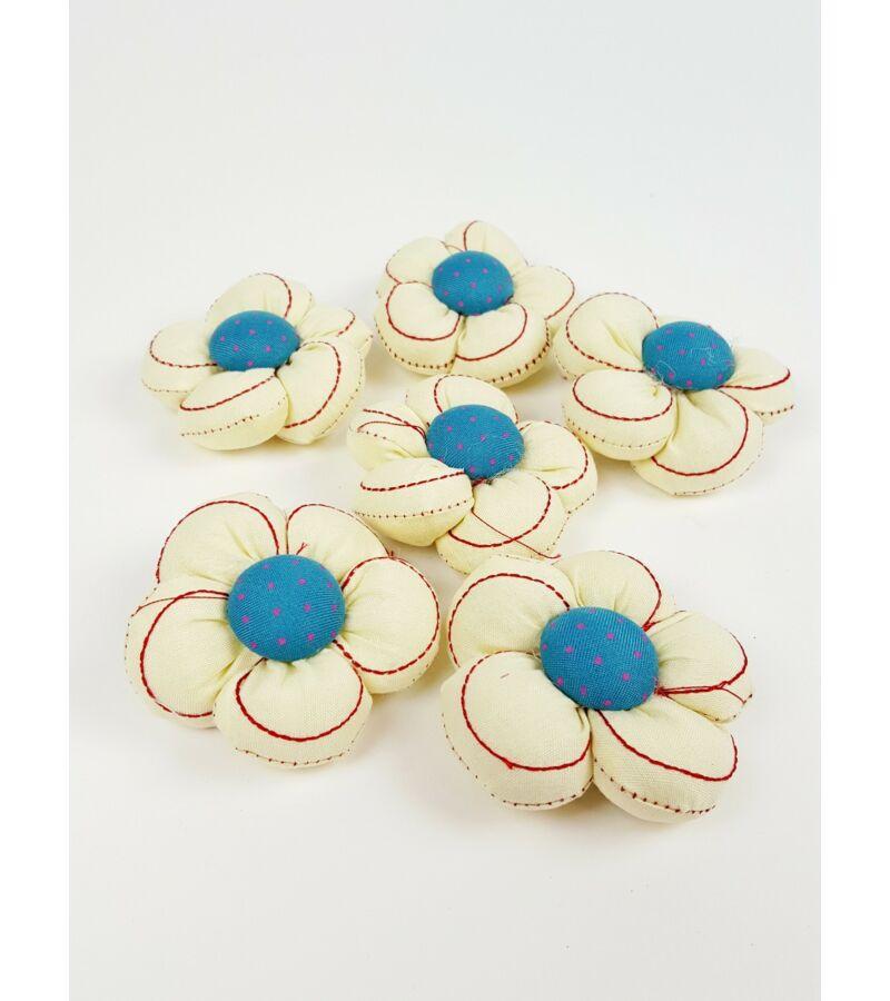 Textil virág nagy vart - Krém