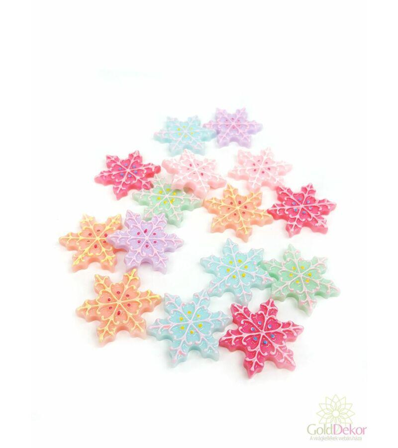 Műanyag dekor hópihe