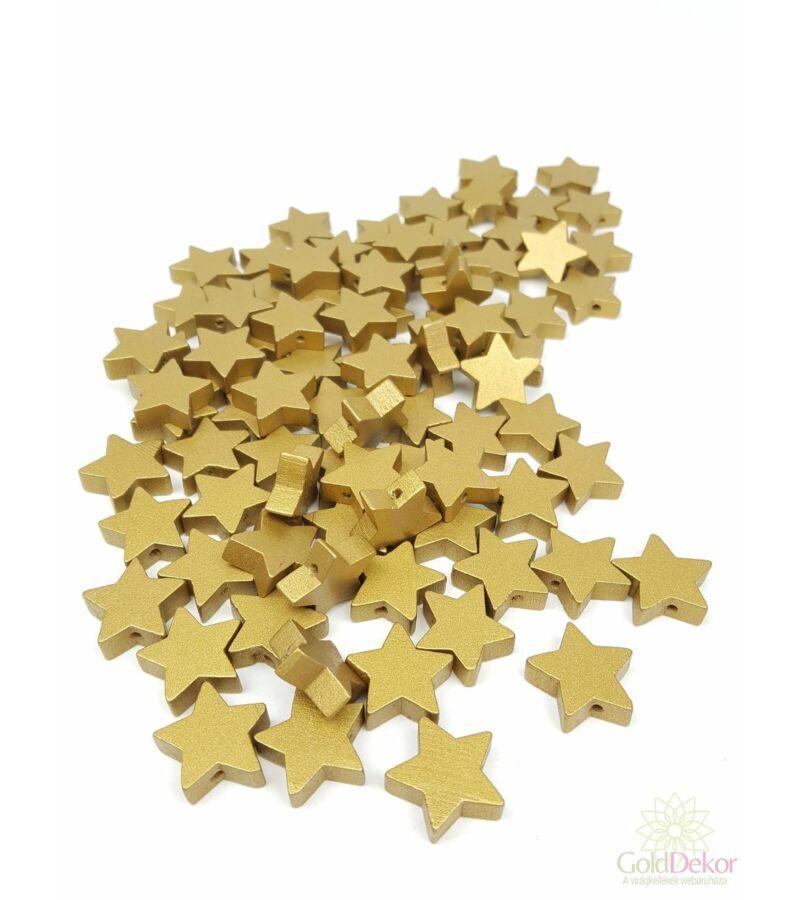 Fűzhetős fa csillag - Arany