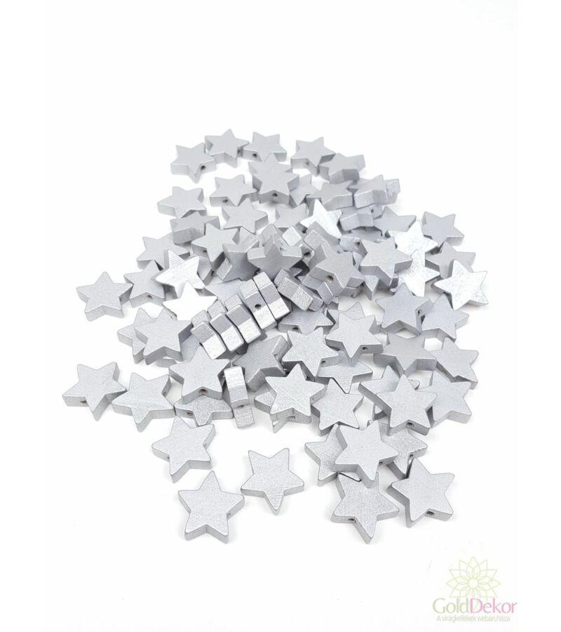 Fűzhetős fa csillag - Ezüst