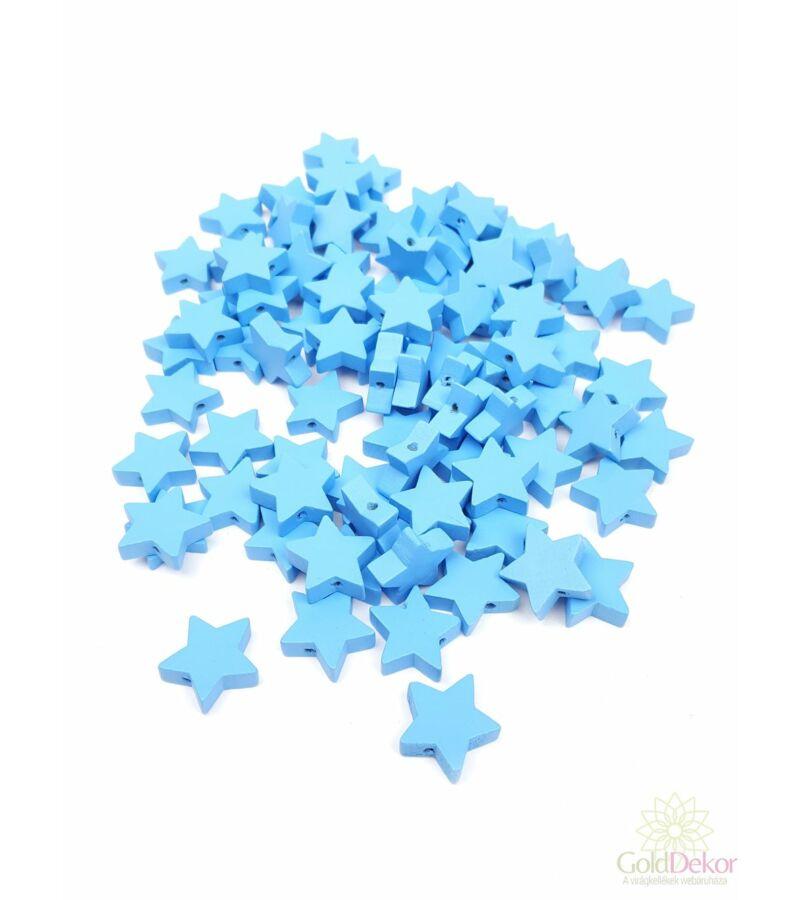 Fűzhetős fa csillag - Kék