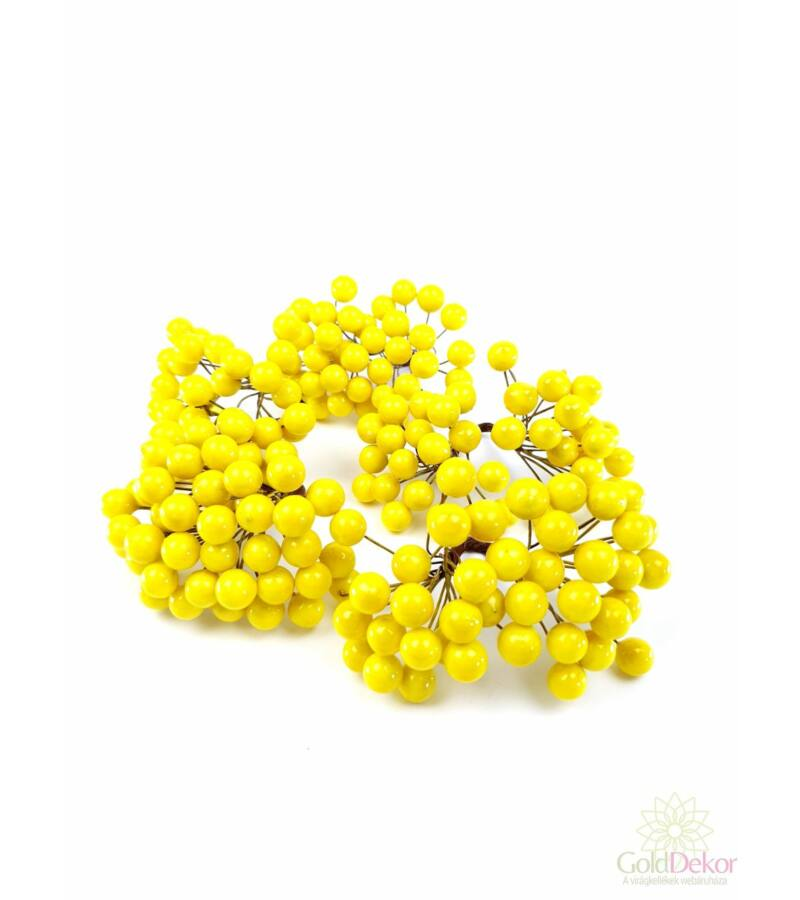 Drótos bogyó 1 cm - Sárga