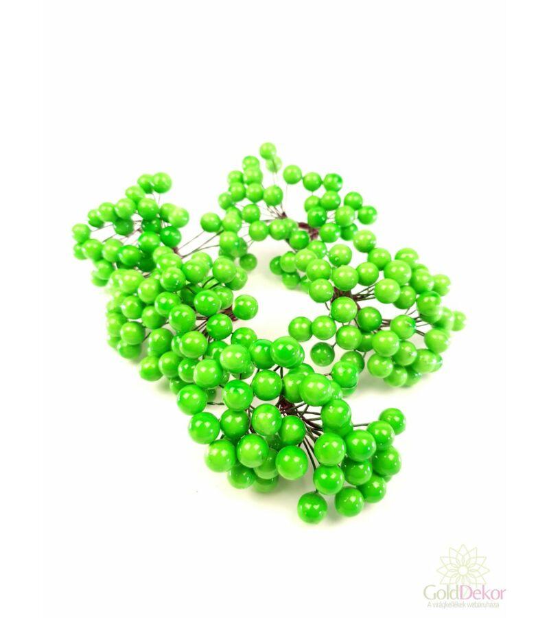 Drótos bogyó 1 cm - Világos Zöld