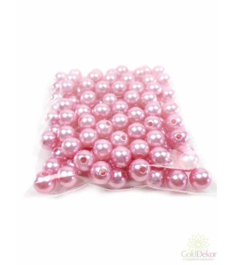 10 mm-es gyöngy - Rózsaszín