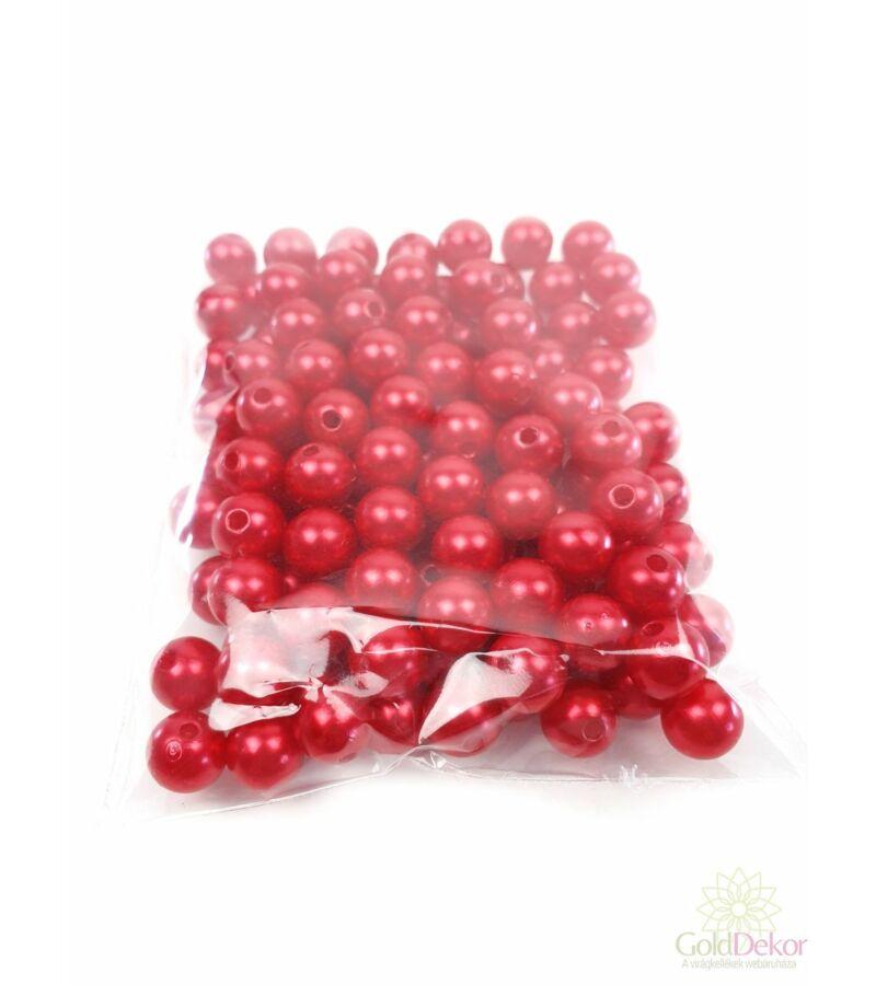 10 mm-es gyöngy - Piros