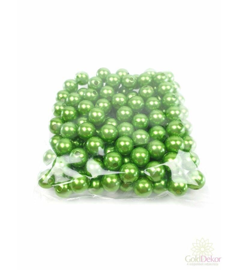 10 mm-es gyöngy - Sötét Zöld