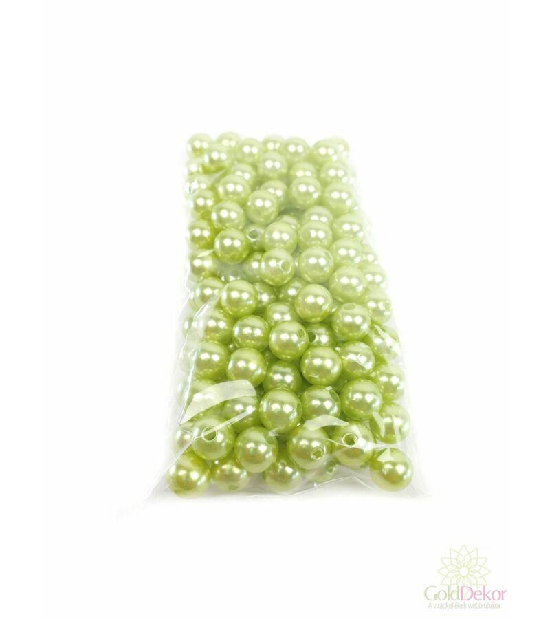 10 mm-es gyöngy - Világos Zöld