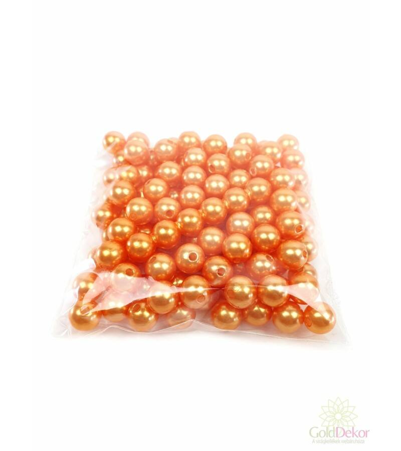 10 mm-es gyöngy - Világos Narancs