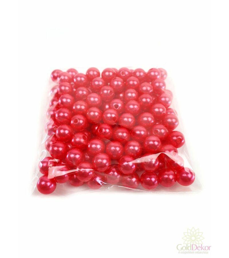 10 mm-es gyöngy - Világos Piros
