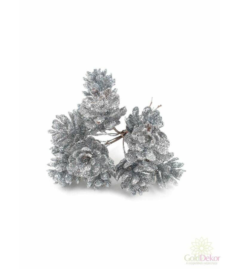 Glitteres toboz pikk - Ezüst