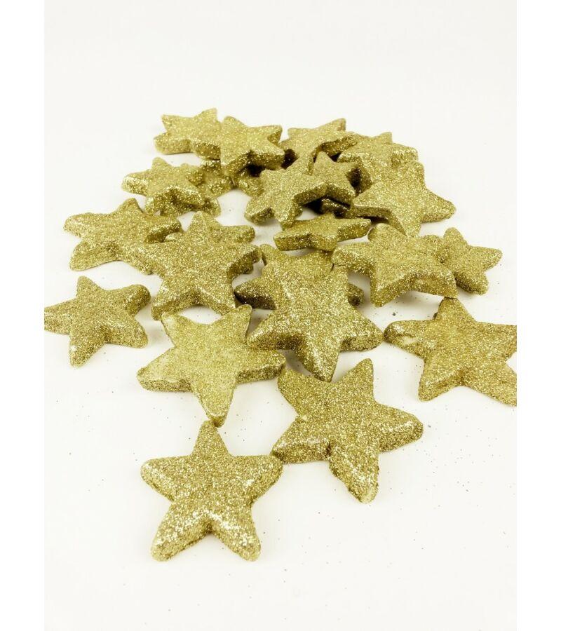 Glitteres csillag vastag - Arany