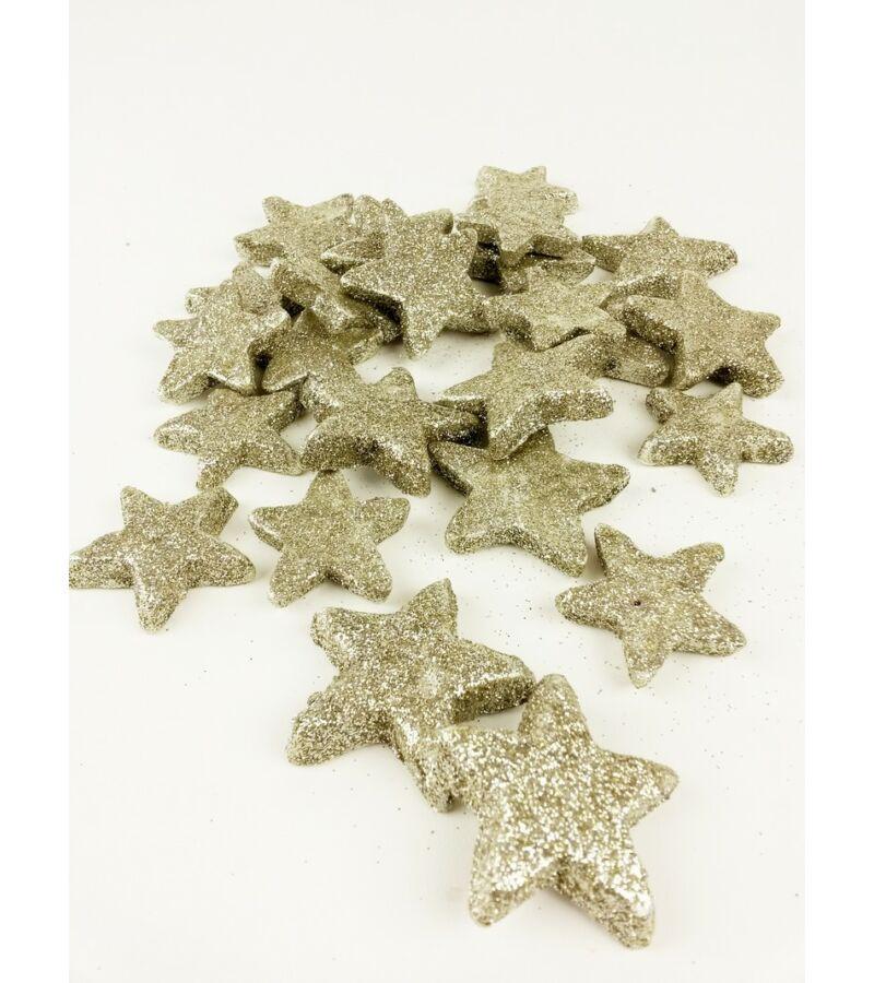 Glitteres csillag vastag - Pezsgő