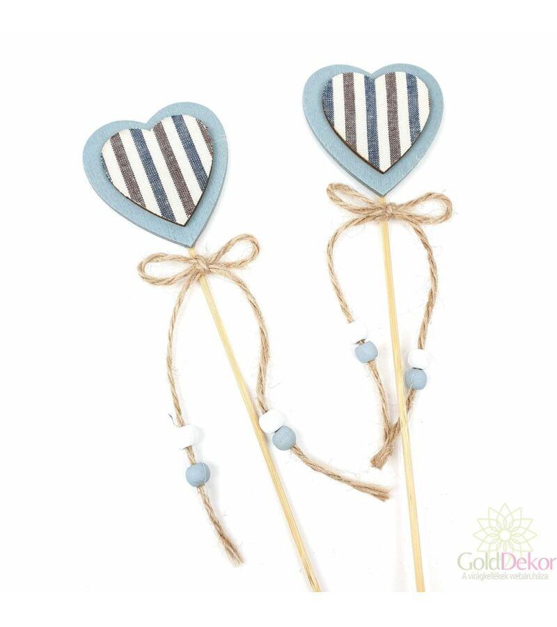 Kari betűző kék csíkos - szív