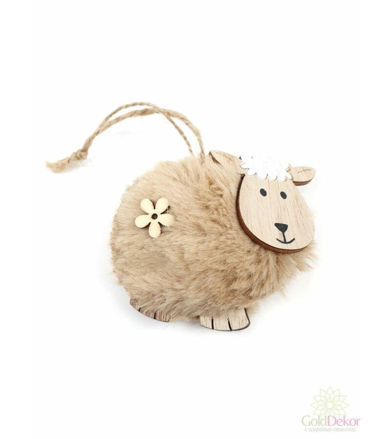 Szőrös bárány függő virággal - Drapp