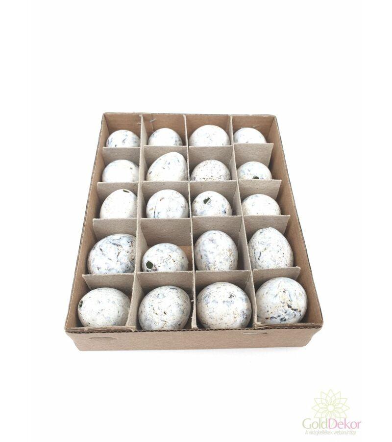 Színes fürj tojás*20 - fehér