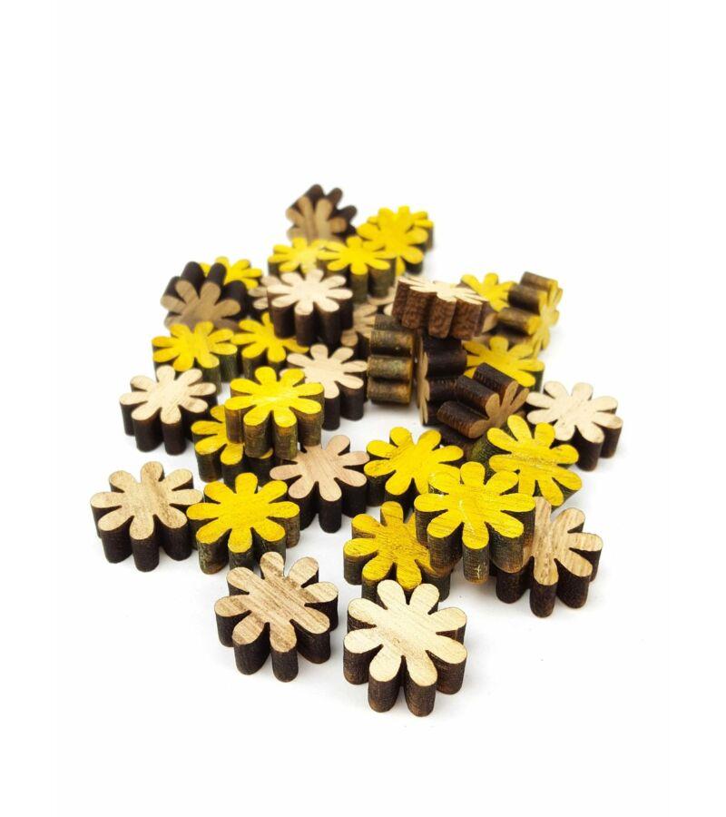 Natúr-Sárga nyolcszirmú favirág