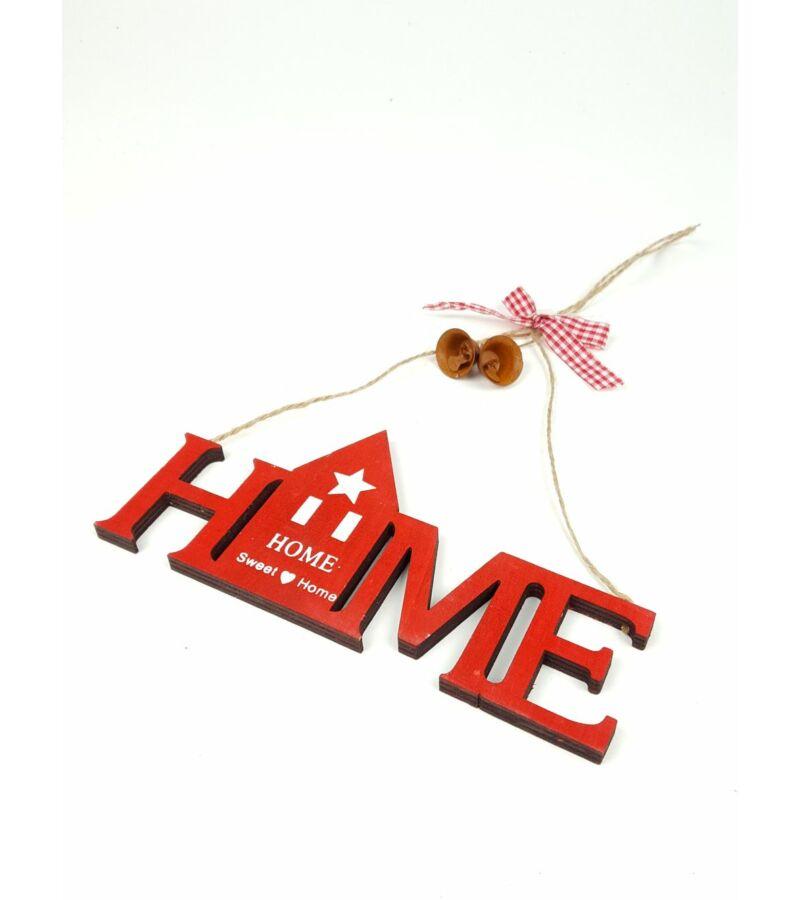Házikós home felirat - Piros