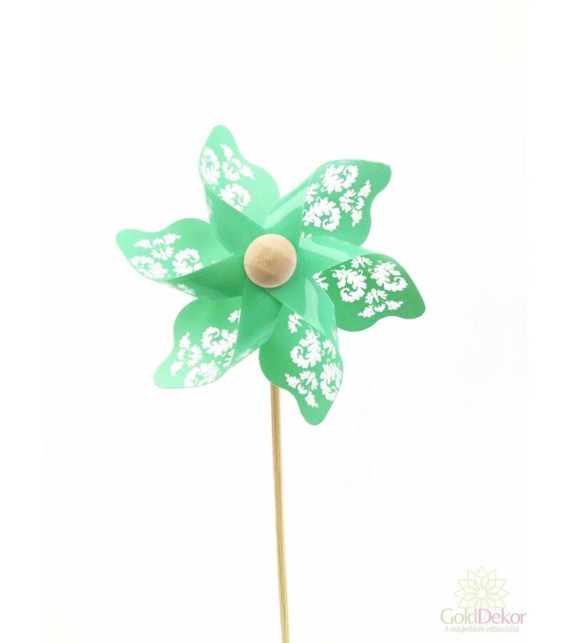 Inda mintás szélforgó - Zöld