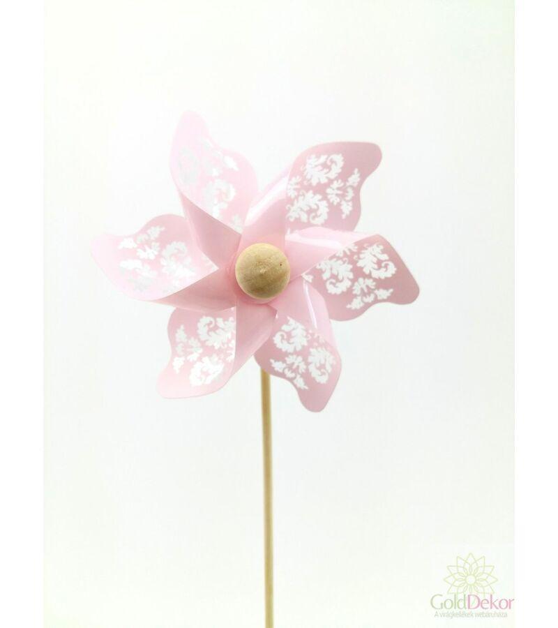 Inda mintás szélforgó - Rózsaszín