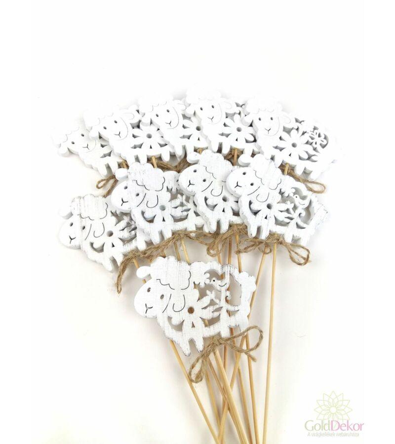 Fehér virágmintás bárány betűző*10