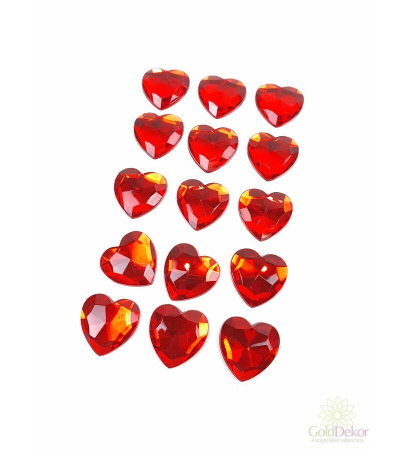 Öntapi strassz szív nagy