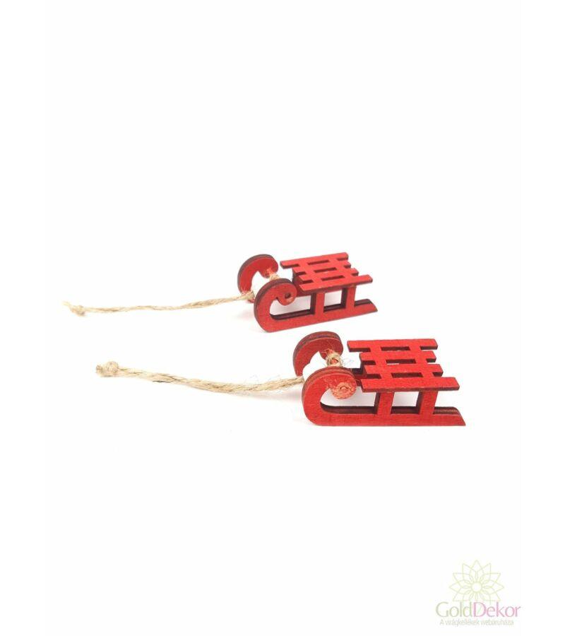 Fa szánkó*2 - Piros