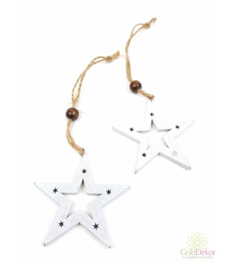 Csillagos fa csillag pár - FEHÉR