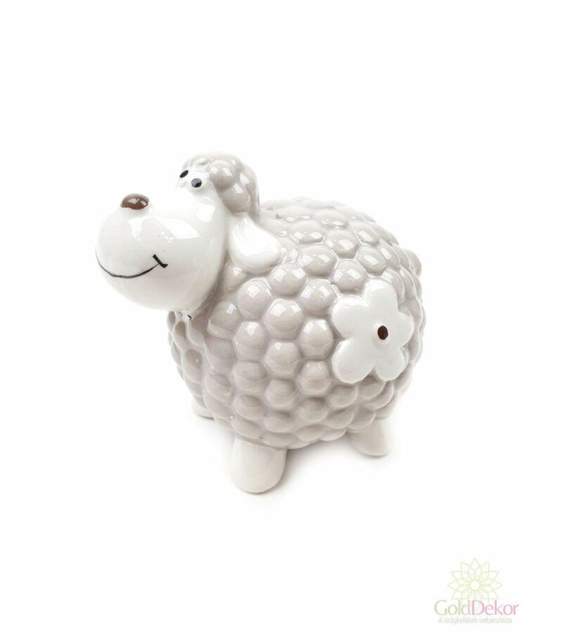 Kerámia virágmintás bárány nagy - Drapp