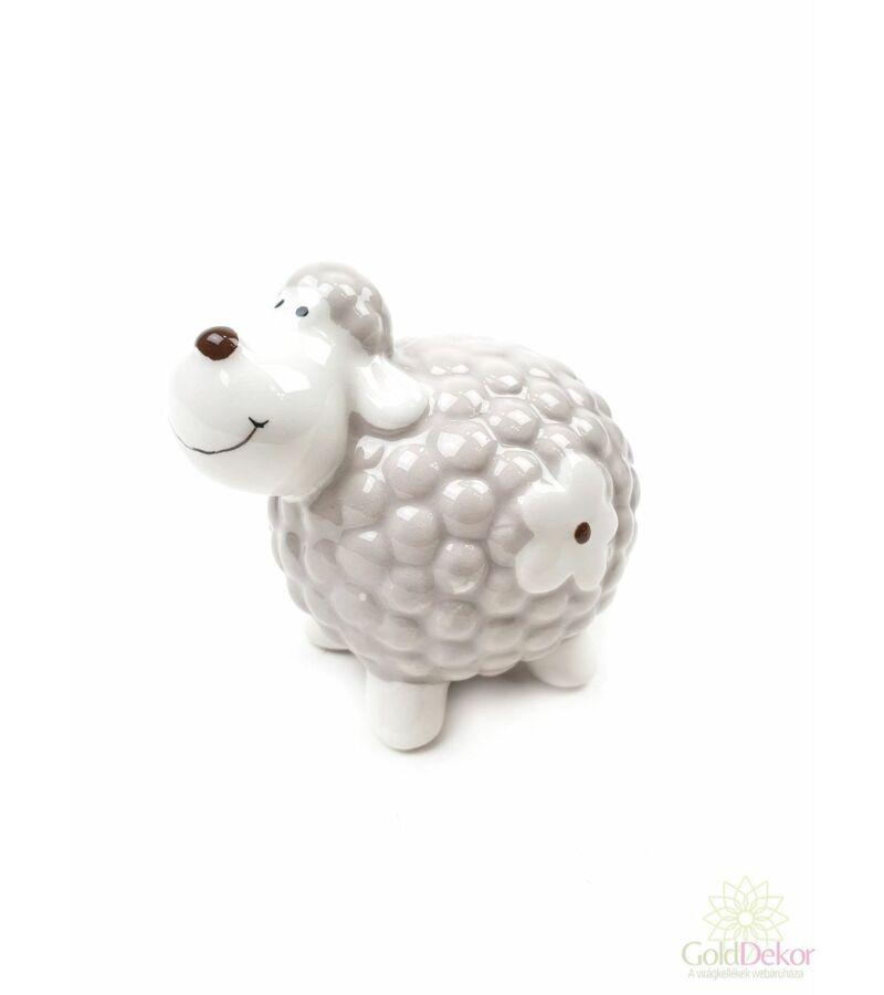 Kerámia virágmintás bárány kicsi - Drapp