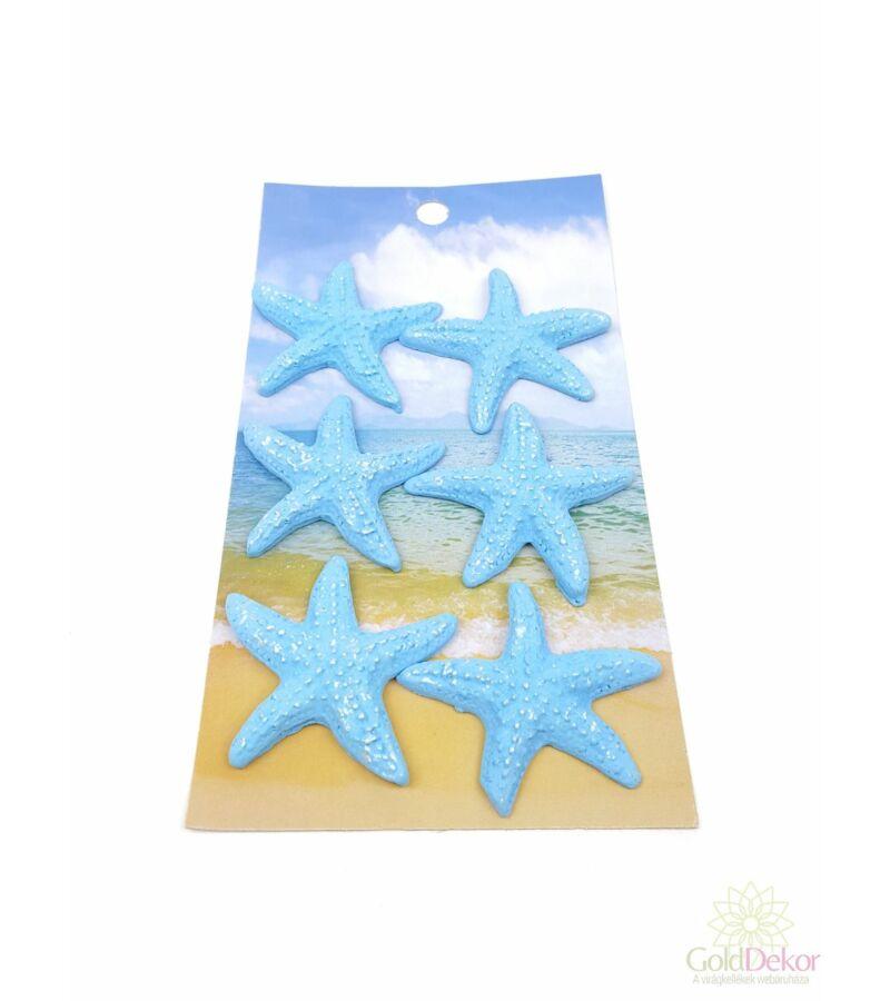 Öntapi kék polyresin tengeri csillag