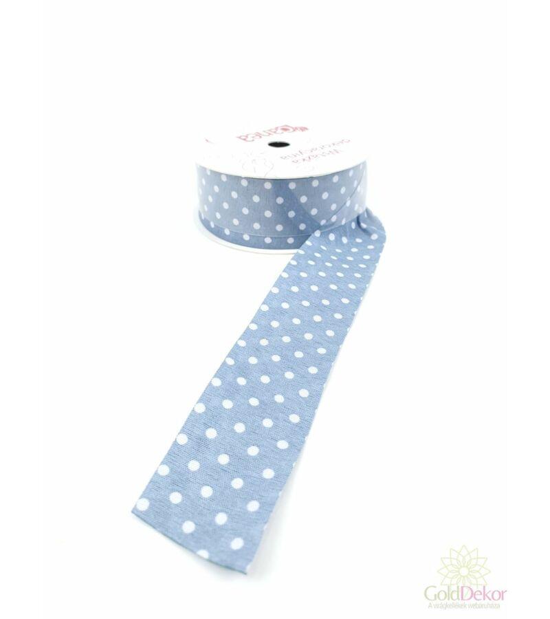 Pöttyös textil szalag 3 cm - Kék