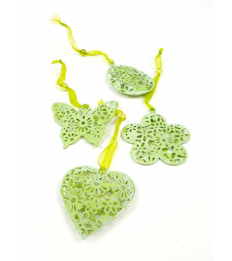 Zöld virágmintás forma szett