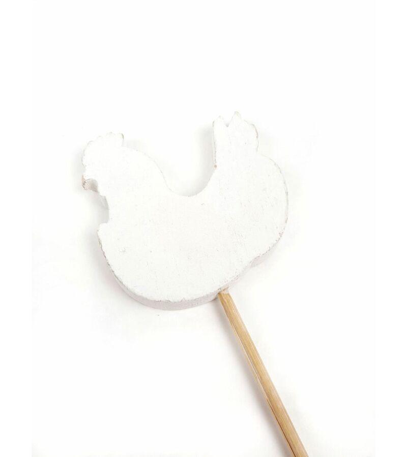 Rusztikus dekor betűző-Kakas - Fehér