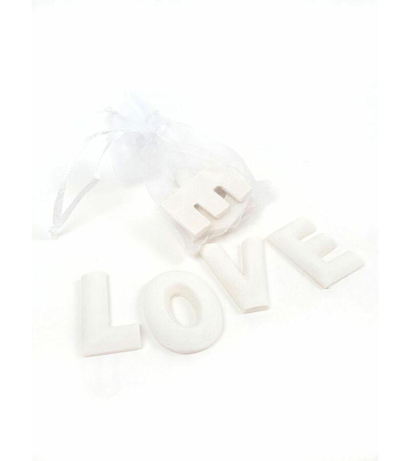 Polyresin betűk zsákban - LOVE