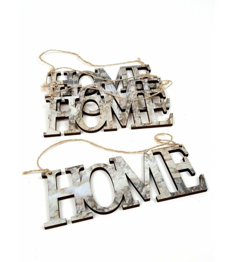 Márvány mintás fa felirat - Home