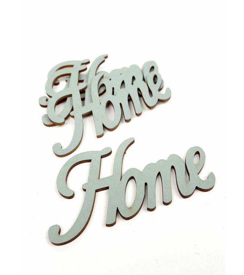 Fa felirat Home - Szürke